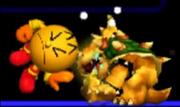 Pac-Man Usando Su Golpiza Contra Bowser SSB 3DS.png