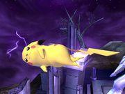 Ataque aéreo delantero Pikachu SSBB.jpg