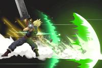 Vista previa de Estallido de filo/Haz espada en la sección de Técnicas de Super Smash Bros. Ultimate