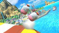Vista de dos capsulas en Super Smash Bros. para Wii U