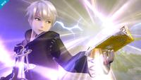 Daraen cargando el Trueno en Super Smash Bros. for Wii U