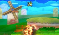 Bowsy usando Salto explosivo en Super Smash Bros. for Nintendo 3DS.