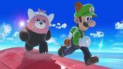 Bewear y Luigi en Pilotwings SSBU.jpg