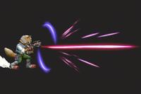 Vista previa de Blaster en la sección de Técnicas de Super Smash Bros. Ultimate