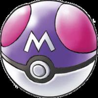 Art oficial de la Master Ball en la serie Pokémon