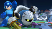 Meta Knight y Mega Man en el Castillo del Dr. Willy SSB4 (Wii U).png