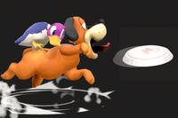 Vista previa de Tiro al plato en la sección de Técnicas de Super Smash Bros. Ultimate
