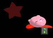 Pose de victoria Kirby B (3) SSBM.png