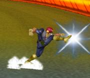 Ataque Smash hacia abajo de Captain Falcon (1) SSBM.png