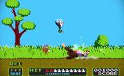 Mario, Donkey Kong y el Dúo Duck Hunt en el escenario Duck Hunt SSB4 (Wii U) (3).jpg