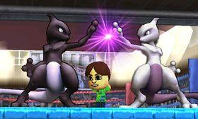 Dos Mewtwo en Tomodachi Life SSB4 (3DS).jpg