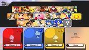 Pantalla de selección de personajes SSB4 (Wii U).jpg