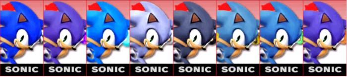 Paleta de colores de Sonic SSB4 (3DS).png