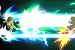 Vista previa de Rayo sideral en la sección de Técnicas de Super Smash Bros. Ultimate