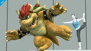 Bowser y la entrenadora de Wii Fit SSB4 (Wii U).jpg