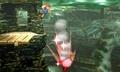 Mario haciendo un Smash Meteorico a Kirby SSB4 (3DS).jpg