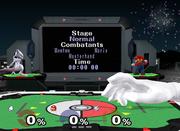 Master Hand en el Estadio Pokémon (inscripción en pantalla) SSBM.png