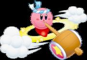 Kirby usando Trompo Martillo en Kirby ¡Roedores al Ataque!.png