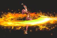 Vista previa de Pironova en la sección de Técnicas de Super Smash Bros. Ultimate