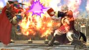 Daraen usando Arcfire contra Ike en el Coliseo SSB4 (Wii U).png