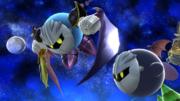 Meta Knight volando junto a Kirby en Galaxia Mario SSB4 (Wii U).png