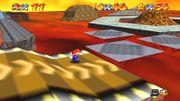 Rampas en Lethal Lava Land en Super Mario 64.jpg