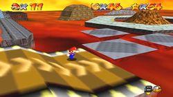 Diseño de las rampas del escenario en Super Mario 64.