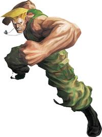 Art oficial de Guile en Street Fighter X Tekken