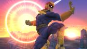 Captain Falcon usando su Gancho de fuego SSB4 (Wii U).png