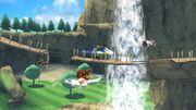 Little Mac, Zelda, Donkey Kong y Link en las Islas Wuhu SSB4 (Wii U).jpg