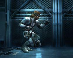 Snake realizando una Burla Smash