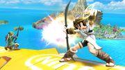 Flecha de Palutena chocando contra el Arco del Heroe SSB4 (Wii U).jpg