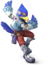 Art original de Falco en Super Smash Bros. Ultimate.