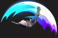Vista previa de Salto delfín en la sección de Técnicas de Super Smash Bros. Ultimate