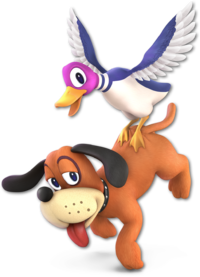 Art oficial del Dúo Duck Hunt en Super Smash Bros. Ultimate