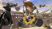 Sora y Sefirot luchando en el Coliseo SSBU.jpg