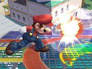Ataque Smash lateral hacia adelante Mario SSBB.jpg