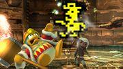 Toon Link y el Rey Dedede junto al Sheriff SSB4 (Wii U).jpg