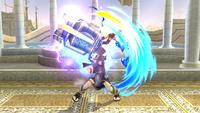 Pit Sombrío utilizando el Brazal biónico en Super Smash Bros. para Wii U
