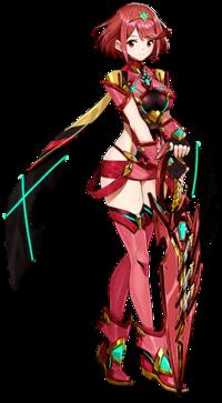 Art oficial de Pyra en Xenoblade Chronicles 2