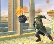 Link lanzando una bomba SSBB.jpg