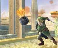 Bomba de Link en Super Smash Bros. Brawl