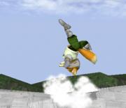 Ataque Smash hacia arriba de Fox SSBM.png