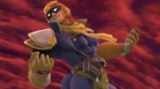 Captain Falcon haciendo una pose en el Hal Abarda SSB4 (Wii U).png