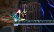 KiHunter atacando a Duck Hunt en Smashventura SSB4 (3DS).jpg