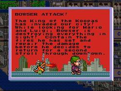 El Dr. Wright huyendo de Bowser en SimCity.