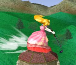 Ataque con el palo de golf.