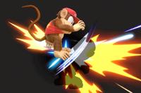 Vista previa de Pirueta simiesca/Cabriola simiesca en la sección de Técnicas de Super Smash Bros. Ultimate