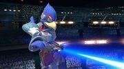 Falco usando su blaster SSBU.jpg