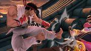 Ryu atacando a Wario en Suzaku Castle SSBU.jpg